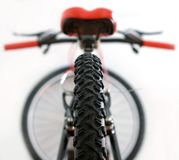 Tire of mountain bike Stock Photos