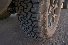 Tire on a 4x4 off road vehicle royalty free stock photos