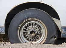 Tire of an old car Royalty Free Stock Photography