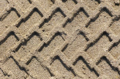 Tire pattern on sand. Stock Image