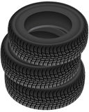 Tire pile Stock Photography