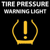 Tire pressure DTC code warning light icon. Car pictogram from dashboard - low pressure. Flat icon. Vector illustration representing icon of car dashboard   tire Royalty Free Stock Image
