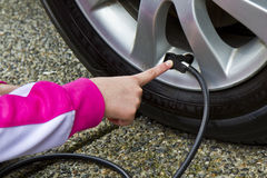 Tire Pressure- Gas Saver Stock Image