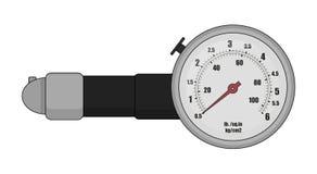 Tire pressure gauge. Color. Tire pressure gauge. Mechanic measurement auto service tool. Color illustration  on white Royalty Free Stock Photo