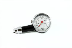 Tire Pressure Gauge isolated background Royalty Free Stock Images