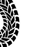 Tire print Royalty Free Stock Image