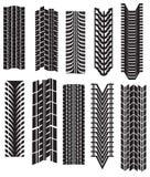 Tire prints  Stock Photo