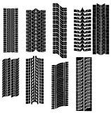 Tire prints vector Stock Photography