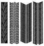 Tire prints vector Royalty Free Stock Photography