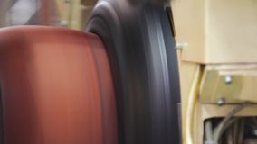 Manufacture of tires stock footage