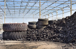 Tire recycling industry royalty free stock image