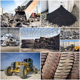 Tire recycling industry royalty free stock images