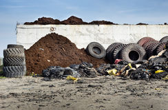 Tire recycling industry stock photography