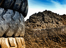 Tire recycling industry stock photos