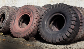 Tire recycling industry Royalty Free Stock Photos