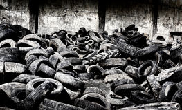 Tire recycling industry Royalty Free Stock Photography