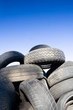 Tire recycling, landfill Stock Photo