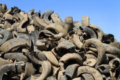 Tire Recycling Yard Stock Image