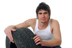 Tire Repair Royalty Free Stock Images