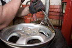 Tire repair Royalty Free Stock Photos