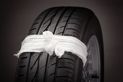 Tire repair (concept) Royalty Free Stock Photography