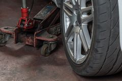 Tire repairer Royalty Free Stock Image