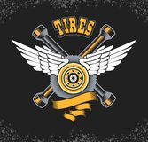 Tire retro emblem Stock Photography