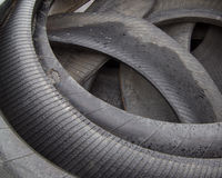 Tire Rubber. A pile of scrap tire rubber stock photography