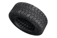 Tire rubber protector. Tire black dirt rubber protector. 3D rendering Stock Image