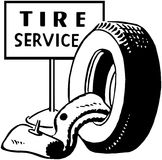 Tire Service Stock Photography
