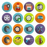 Tire service icon set Stock Photography