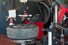 Tire service Stock Photo