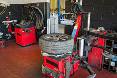 Tire service Stock Image