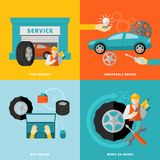 Tire Service Set Stock Images