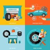 Tire Service Set Stock Images