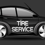 Tire service. Royalty Free Stock Photography