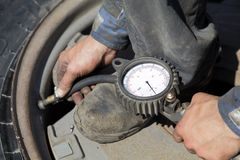 Tire servicing Stock Image