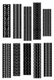 Tire shapes. Set of tire shapes isolated on white for design Stock Photos