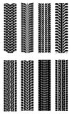 Tire shapes Royalty Free Stock Photography