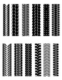 Tire shapes Stock Photography