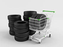 Tire Shop Royalty Free Stock Photography