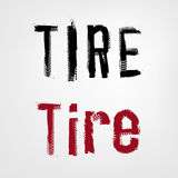 Tire Shop Lettering Royalty Free Stock Images