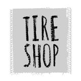 Tire Shop Lettering Royalty Free Stock Photos