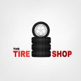 Tire Shop Logo Royalty Free Stock Images
