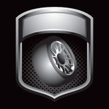 Tire in silver display Stock Photo