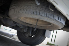 Tire spare wheel of vehicle car Stock Image