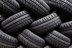 Tire stack background Stock Image