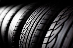 Tire stack background Stock Photos