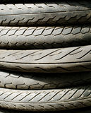 Tire stack background and texture Stock Photo