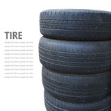 Tire stack isolated on white background Royalty Free Stock Photos